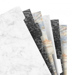 Intercalaires 6 positions - Marble - A5