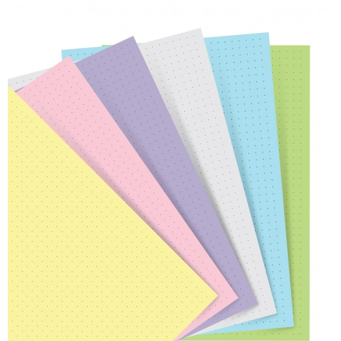 Filofax Notebooks - Feuilles de notes pointées - Assortiment Pastel - A5