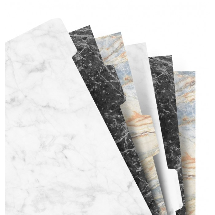 Intercalaires 6 positions - Marble - Personal