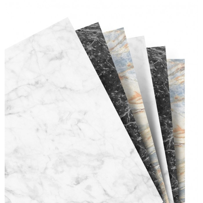 Feuilles de notes unies - Assortiment Marble - Personal
