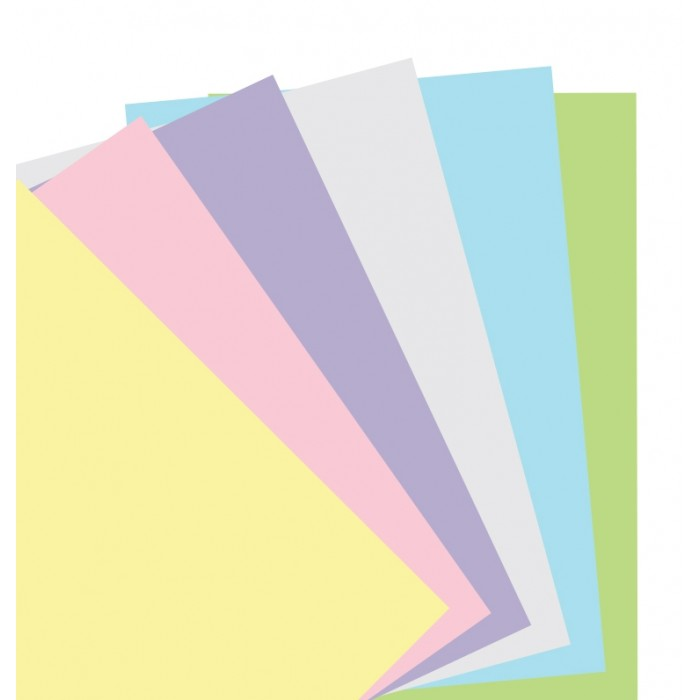 Feuilles de notes unies - Assortiment Pastel - Personal