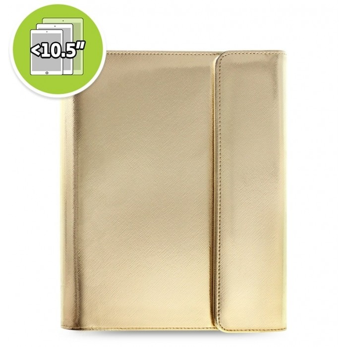 Étui tablette Saffiano Metallic Wrap + eniTAB360 - Large - Gold
